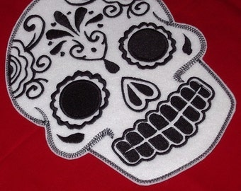 Mexican Day of the Dead Sugar Skull Patch Embroidery