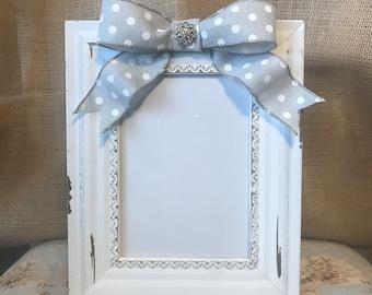 Handmade embellished picture frame 5x7