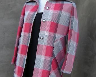 GEEK CHIC Retro Pure Virgin Polyester Plaid Jacket
