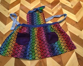 Rainbow Peace Kids Apron