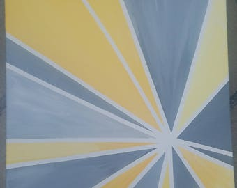 Yellow and Gray Abstract Canvas (Customizable)