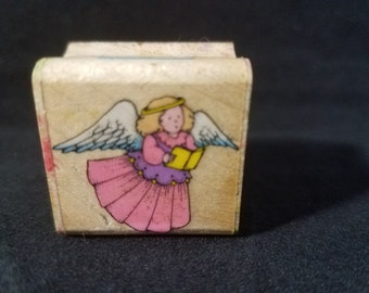 Choral Angel  Rubber Stamp Used Hero Arts