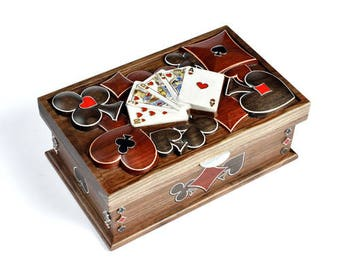 """Silver Jewelry box """"Cards"""""""