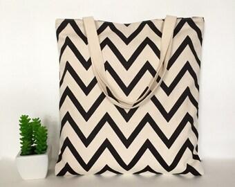 Chevron Canvas Tote Bag, Canvas Tote Bag, Minimalist Canvas Tote Bag, Canvas bag, School Tote Bag, Travel tote bag, Casual Tote bag, Totes
