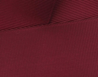 Maroon Grosgrain Ribbon Solid- Choose Width / Length