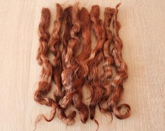 Doll hair (cinnamon) Mohair Curls Curls for dolls, reborn, Paola Reina, BJD, Blythe, PukiFee, Monster High, Disney Princess, waldorf