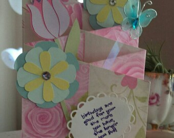 Cascading Birthday Card (with butterfly)