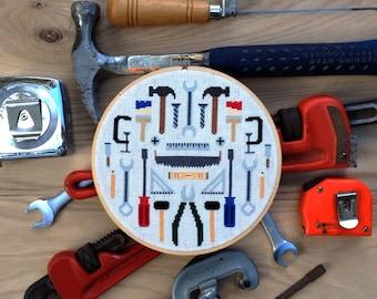 Tools - Modern cross stitch pattern PDF - Instant download