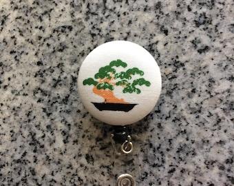 Bonzai retractable ID Badge holder, bonzai, Nurses badge, fabric badge reel, ID clip, badge clip