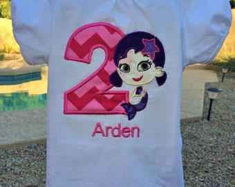 Personalized Bubble Guppies Birthday shirt only.