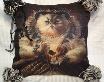 Her Highness The Cat-- Punky Pillow Cover