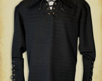 Le baron medieval shirt clothing for men LARP costume and cosplay