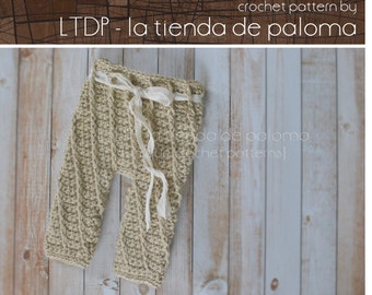 INSTANT DOWNLOAD - Crochet Baby Pants Pattern - Crochet Spiral Pants - Crochet Pants - Crochet Pattern