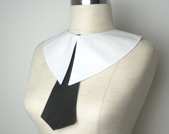 Madonna halloween costume,Madonna erotica collar,Wednesday Addams  collar , white detachable collar