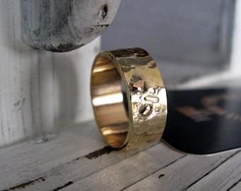 Gold Mens Wedding Band 14K Mens Wedding Ring Unique Mens Wedding Band Mens Wedding Rings Viking Wedding Ring Mens Wedding Bands Hot Rox Ring