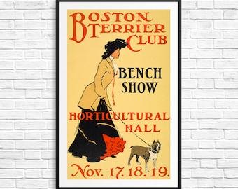 Pet gift, Boston Terrier, City of Boston, Bostonian, Boston Terrier gifts, Boston Terrier art, Boston posters, boston terrier fans, dog gift