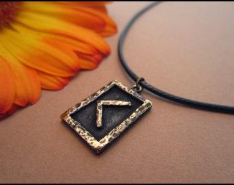 Viking and Norse  Kenaz Rune Pendant - Fire of life - Viking Jewelry