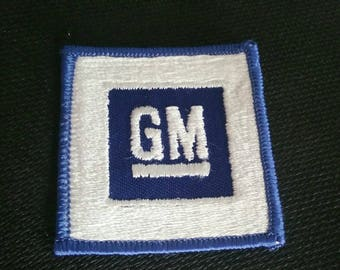 Free US Shipping / 1970s Vintage GM Patch General Motors Patch Vintage Patch embroidered Patch New Old Stock