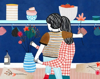 Illustration print - Flowers