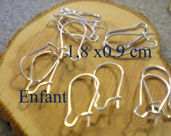 Set of 6 child pairs of EARRINGS in silver