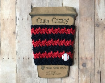 Atlanta Braves, Coffee Sleeve, Cup Cozy, Cup Holder, Coffee Cup Cozy, Cup Sleeve, Coffee Cozy, Coffee Cup Sleeve, Reusable Coffee Sleeve