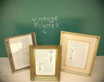 Trio of Vintage Metal Picture Frames