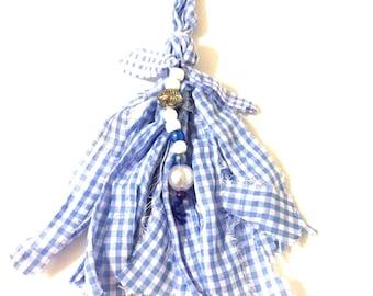 beaded tassel keychain, fabric tassel keychain, beaded bag charm tassel, beaded purse charm, boho tassel, tassel accessory, large tassel,