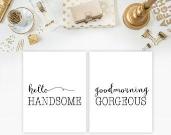 wedding gift wedding gifts couples gift bedroom decor printable poster wall art black and white wall art typography print printable set