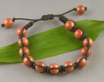 Goldstone Macrame Bracelet