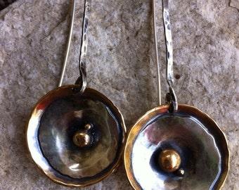 Bronze &Sterling Silver Earrings
