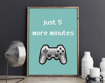 Video Game Art Video Game Poster Retro Video Game Decor Gaming Poster Video Game Wall Art Video Game Party Gaming Decor Gift for Gamers