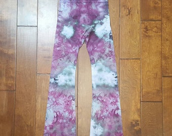 Yoga Pants, Small Size, Womens yoga pants, Tie Dye Yoga Pants, Royal Apparel, Cotton Boho Pants, Bohemian, Festival pants, workout pants