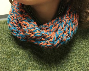 Blue and Orange Infinity Scarf