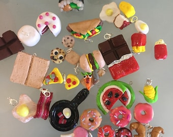 Mini polymer clay charms (food collection)