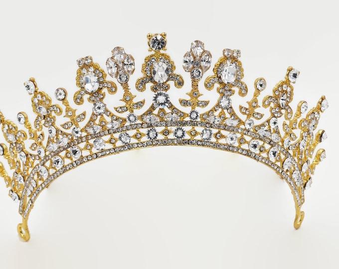 Silver or gold, Swarovski crystal tiara, queen, princess, any colour Swarovski crystal, Bridal, prom, hair accessory, pageant headdress,