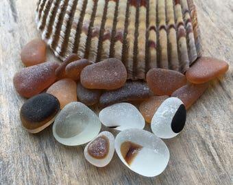 Brown Sea Glass Mix