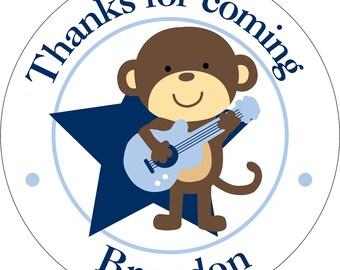 Rockstar Monkey Glossy Party Stickers KPR-001