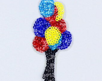 1 apply iron balloons sequins