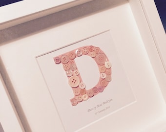 Button personalised frame