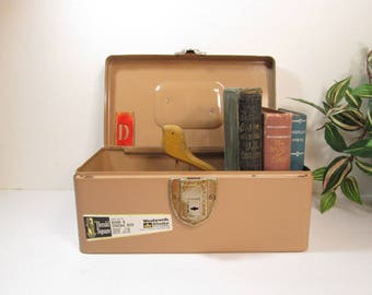 Metal Bond Box, Safe Deposit Strong Box from Woolworth's