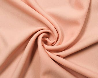 """Peach Light 60"""" Poly Crepe Fabric by the Yard - Style 3060"""
