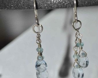 Gorgeous Blue Topaz and Apetite Earrings