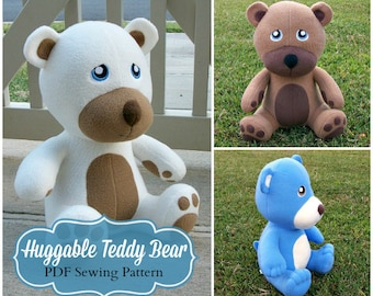 Huggable Teddy Bear Pattern - PDF Instant Download