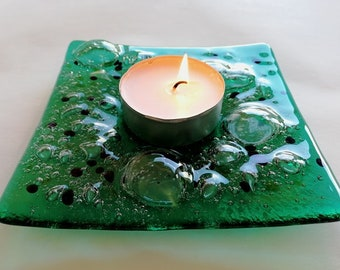 Oceanic Emerald Candle Holder