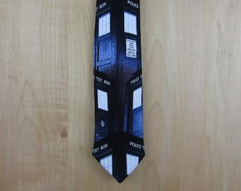 Dr. Who Tardis Skinny Neck Tie