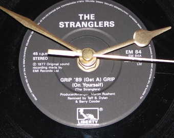 "The Stranglers Grip '89 get a grip 7"" vinyl record clock"