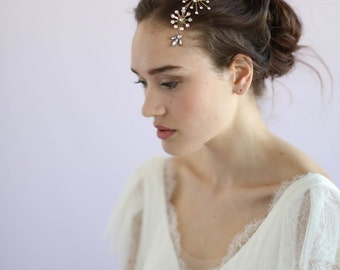 Bridal headpiece - Constellation crystal headpiece - Style 648 - Made to Order