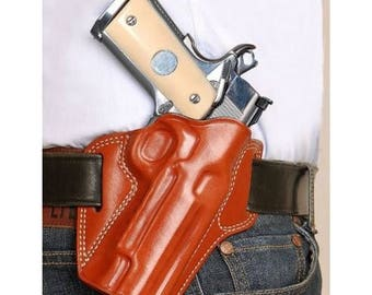 Butterfly Belt Holster for Colt 1911 Leather Concealed Carry Holster