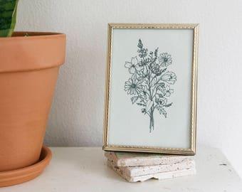 Wildflower Botanical Illustration // Floral Art // Floral Illustration // Floral Drawing // Poppi Paper Co