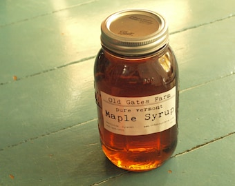 TWO Quarts of Pure Vermont Maple Syrup - wood fired